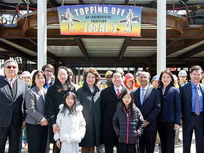 "Chao family at the Harvard Business School Campus ""Tops-Off"""